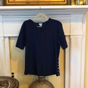 Cabana Life navy blue short sleeved SPF shirt XL